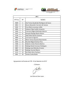 4839 1 Ana Teresa Quadrado Rodrigues de Sousa 4853 2 Bruno