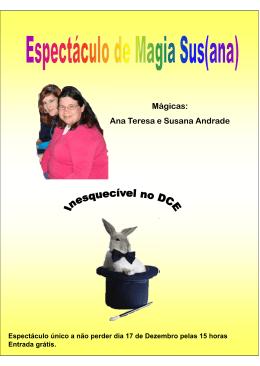 Mágicas: Ana Teresa e Susana Andrade