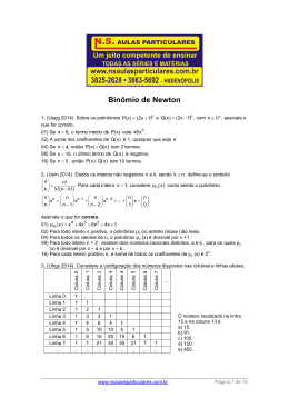 Binômio de Newton - NS Aulas Particulares