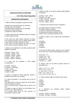 EXERC CIOS DE PORTUGU S