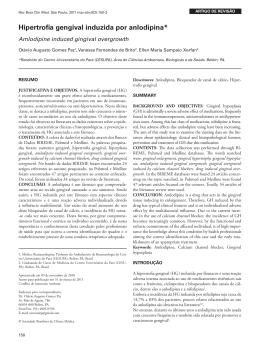 Hipertrofia gengival induzida por anlodipina