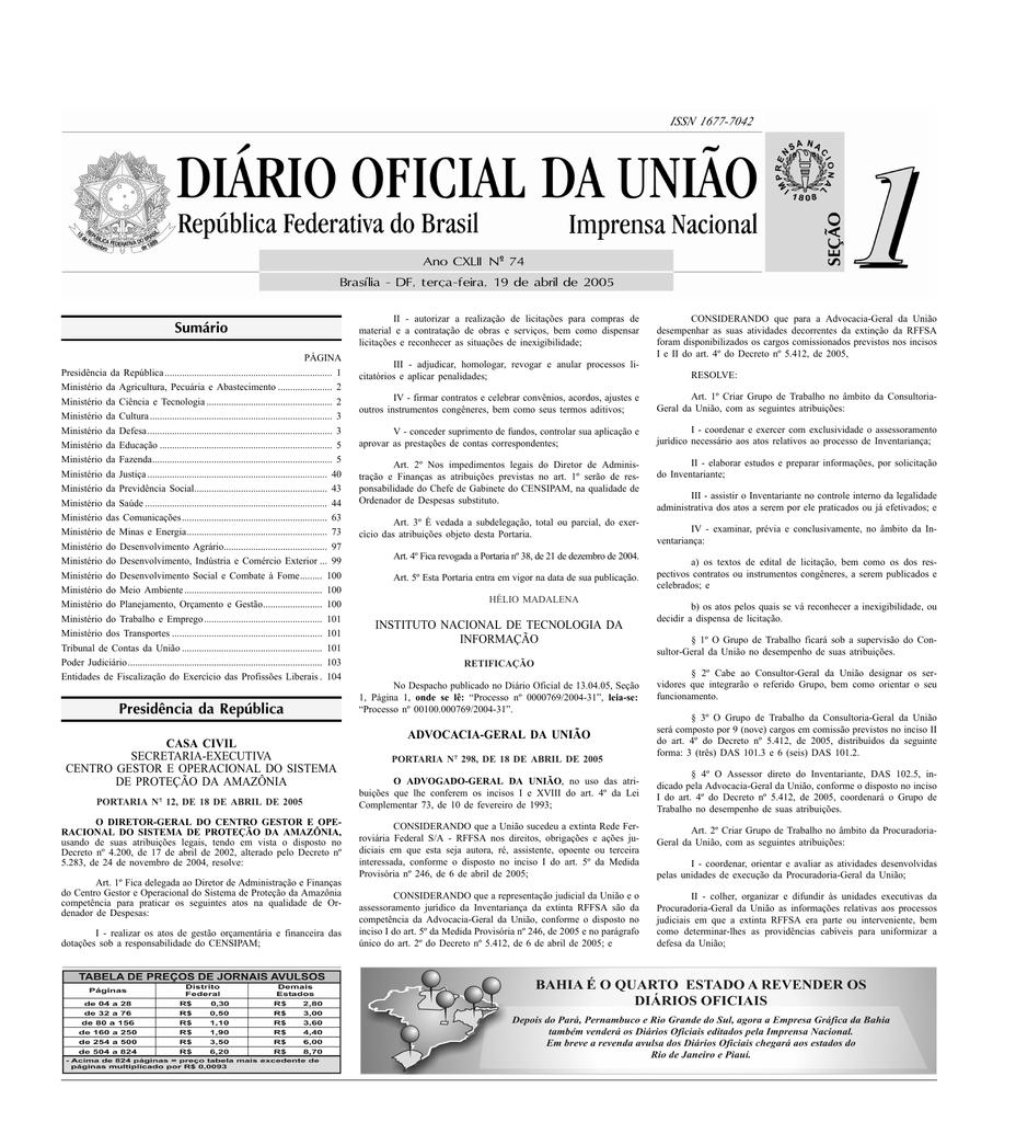 e39569c43 Sumário Presidência da República