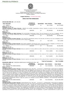 Resultado por Fornecedor PE SRP 10.2011