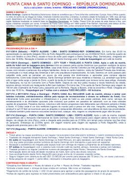 punta cana & santo domingo – república dominicana