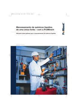 Catálogo Manuseamento de Químicos