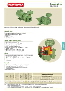 Bombas Vórtex F - Positivo Eletro Motores