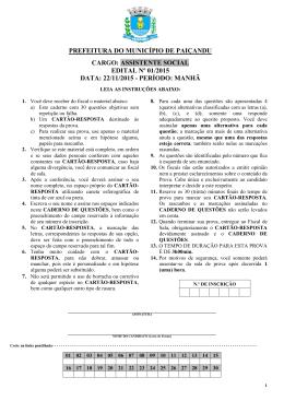 PREFEITURA DO MUNICÍPIO DE PAIÇANDU CARGO