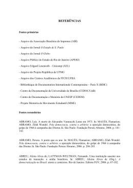 REFERÊNCIAS - Biblioteca Digital de Teses e Dissertações da USP