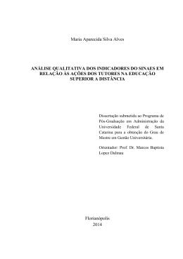 Maria Aparecida Silva Alves ANÁLISE QUALITATIVA DOS