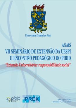 ANAIS VII Seminário de Extensão e II Encontro Pedagógico do PIBID