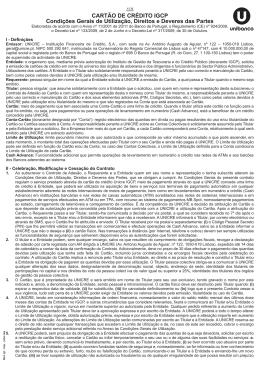 CARTÃO DE CRÉDITO IGCP Condições Gerais de