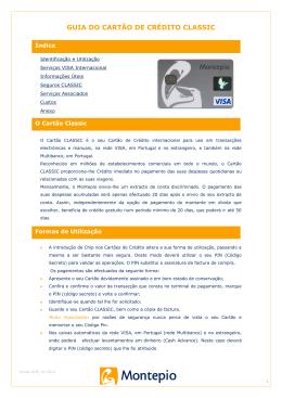 GUIA DO CARTÃO DE CRÉDITO CLASSIC