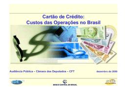 Cartão de Crédito - Câmara dos Deputados