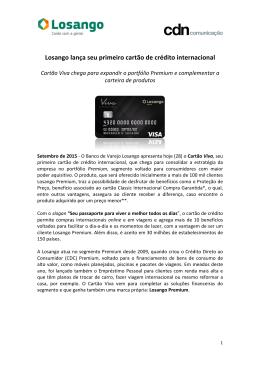 Losango lança seu primeiro cartão de crédito internacional Setembro