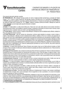 Contrato Cartão válido até 14/06/2015