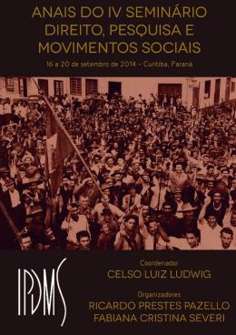 Anais do IV Seminário Direito, Pesquisa e Movimentos Sociais