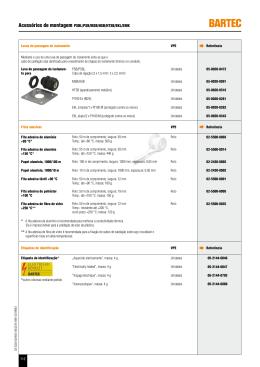 Acessórios de montagem PSBL/PSB/MSB/HSB/HTSB/EKL