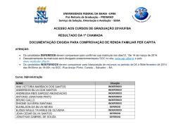 Resultado Campus Salvador - Ufba