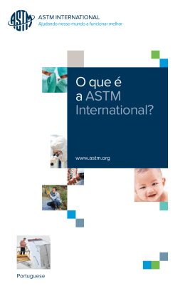 O que é a ASTM International?