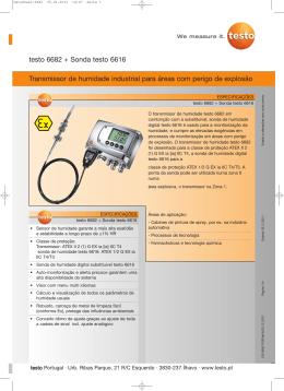 Catálogo Transmissores de humidade testo 6682