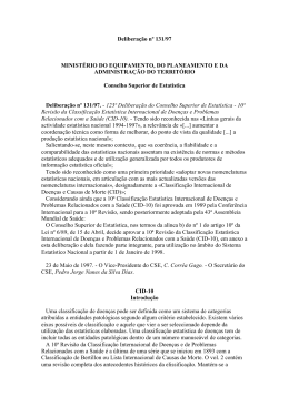 Deliberação nº 131/97 MINISTÉRIO DO EQUIPAMENTO, DO