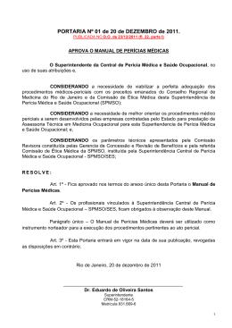 Manual Perícias Médicas - Governo do Estado do Rio de Janeiro