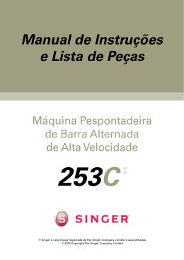 Singer 253C Pespontadeira de Barra Alternada | Manual de