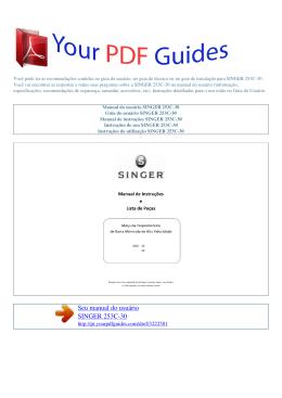 Manual de instruções SINGER 253C-30