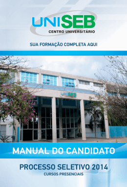 MANUAL DO CANDIDATO - UniSEB - Aluno On-Line