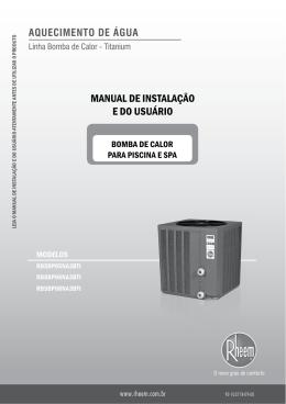 MANUAL DE INSTALAÇÃO E DO USUÁRIO