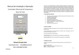 Manual CDT Mod. DCT-010 - Dinasol | Tecnologia em Energia Solar
