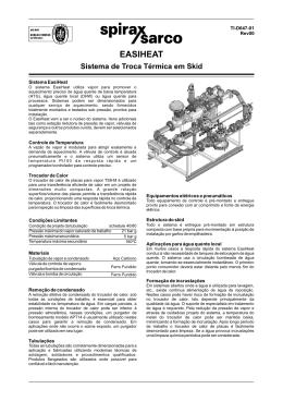 EasiHeat Sistem de Troca Termica em Skid