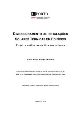 dimensionamento de instalações solares térmicas em edifícios