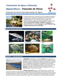 Aquicultura - Fazenda de Peixe