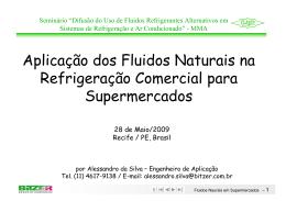 Aplicação de Fluidos Naturais na Refrigeração Comercial para