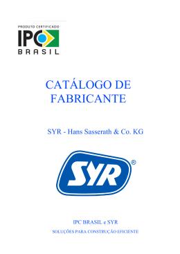 Catálogo Válvulas Syr