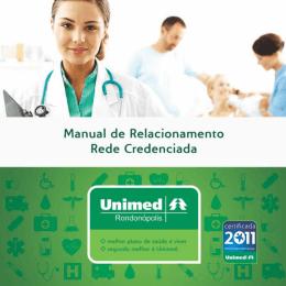 Manual de Relacionamento Unimed Rondonópolis e Hospitais