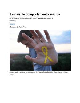 6 sinais de comportamento suicida
