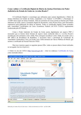 Como validar o Certificado Digital do Diário da Justiça Eletrônico do