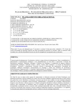 STA04032 Planejamento Organizacional