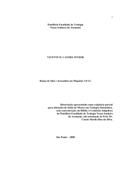 Dissertação completa - Pontifícia Faculdade de Teologia Nossa