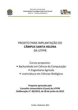 projeto para implantação do câmpus santa helena da utfpr