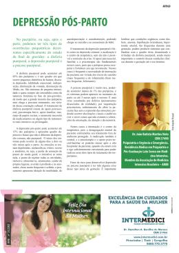 Depressão pós-parto. Dr. João Batista Martins Neto