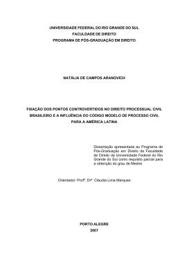 FACULDADE DE DIREITO PROGRAMA DE PÓS