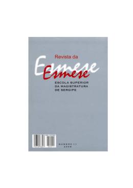 Revista da Esmese_11_2008.pmd - Diário da Justiça de Sergipe