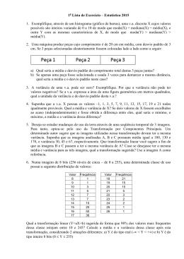 Lista de Exercício - Estatística