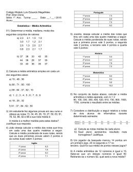 LISTA DE EXERCÍCIOS 3 - UNIDADE 8