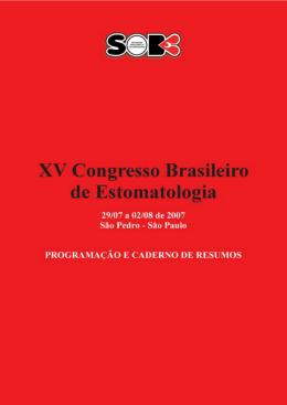 Caderno de Resumos  - Sociedade Brasileira de Estomatologia