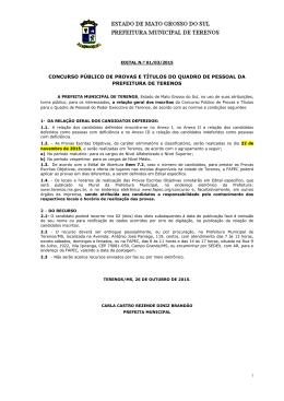 Edital 01/03/2015 - Relação dos Inscritos