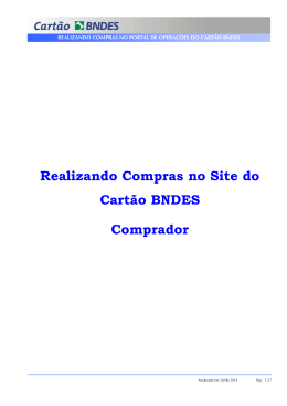 Manual do Comprador - Compras Indiretas